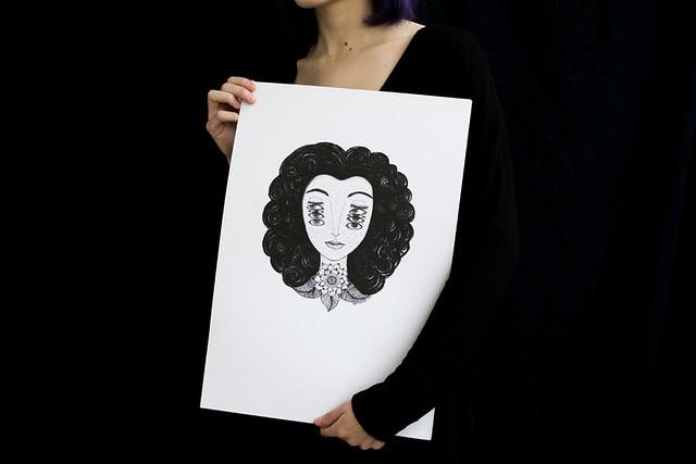 Octopus Ink - A4, A3 Art Print