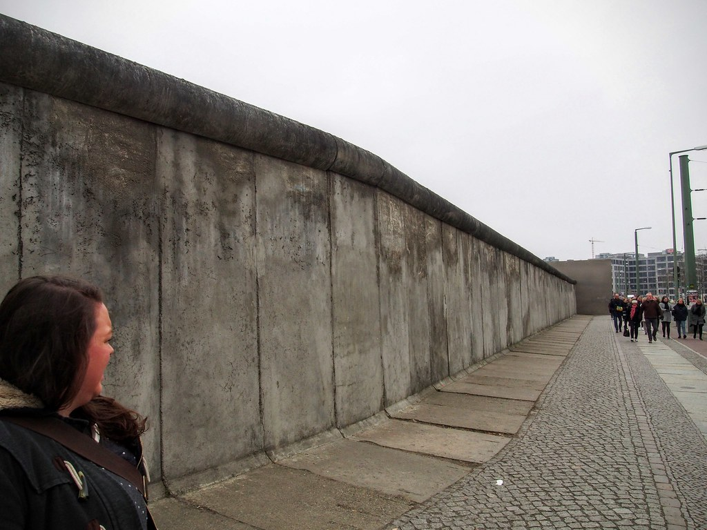 Preserved section of the Berlin Wall