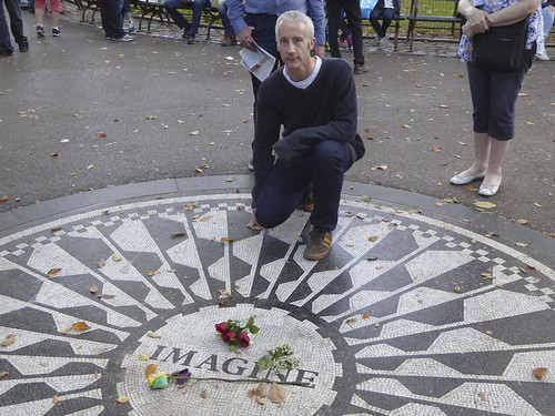 J at the Memorial to John Lennon