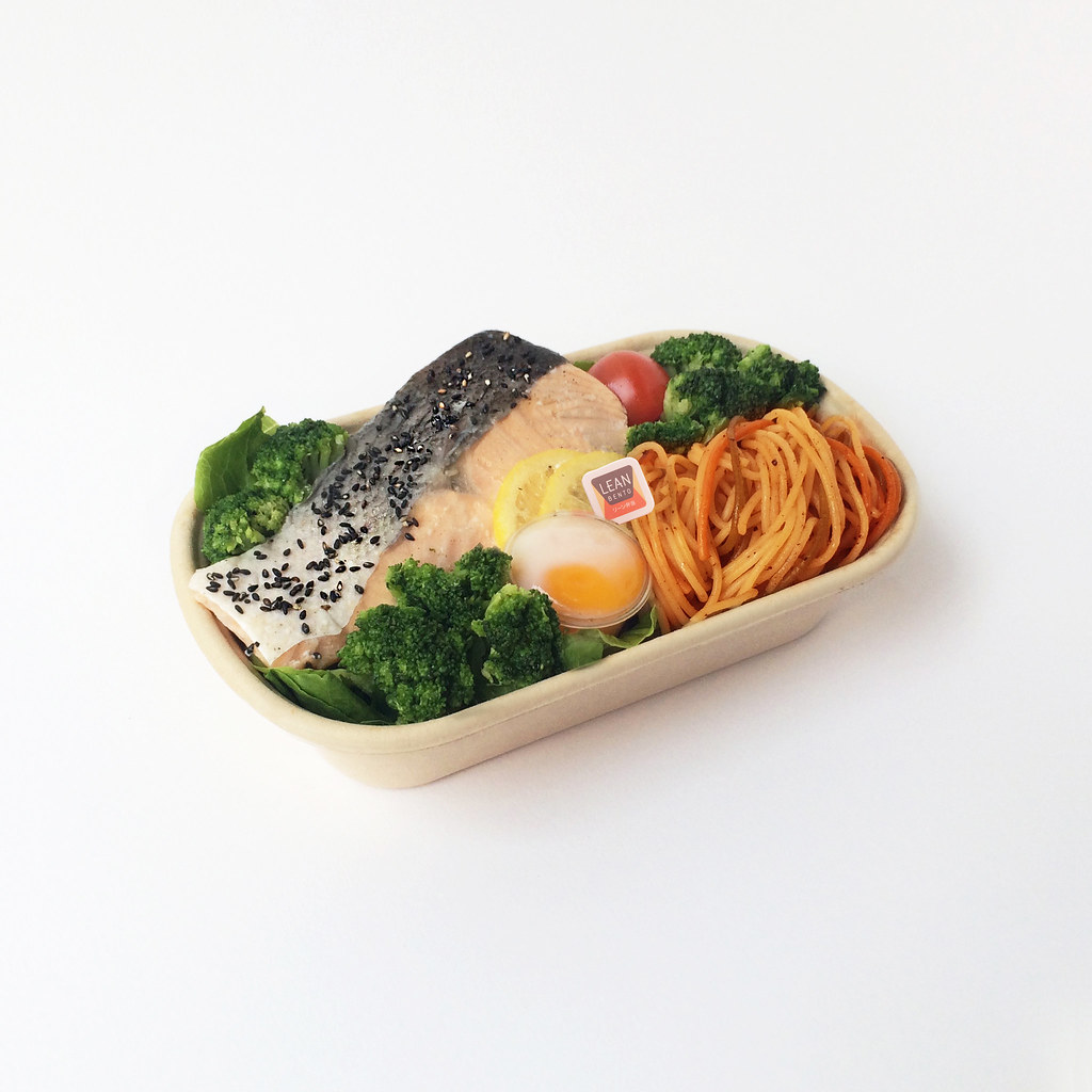 Healthy Food in Singapore: Lean Bento Salmon Laksa Pasta Special