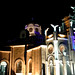 The Basilica lit up at night