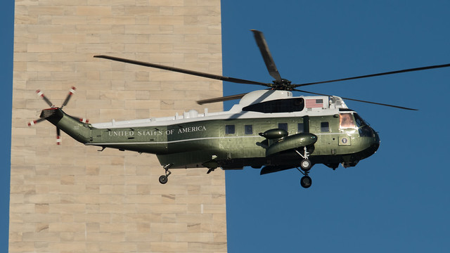 HMX-1 Helicopter departing the White House on 3/29/2016