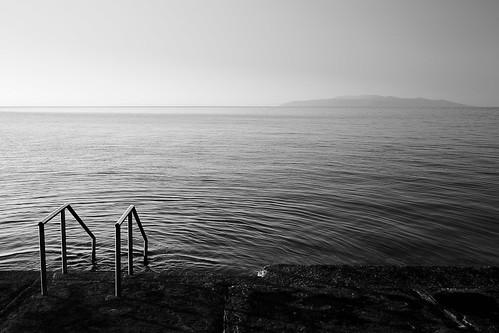 croatia stairway opatija beachandsea canon5dmk3 canon5dmarkiii opatijabeach opatijabeachblackwhite stairwayinthesea stairwayintothewater stairwayduringsunrise beachstairwayandthesea canon35mmf14liiusm vintageblackandwhitebeach