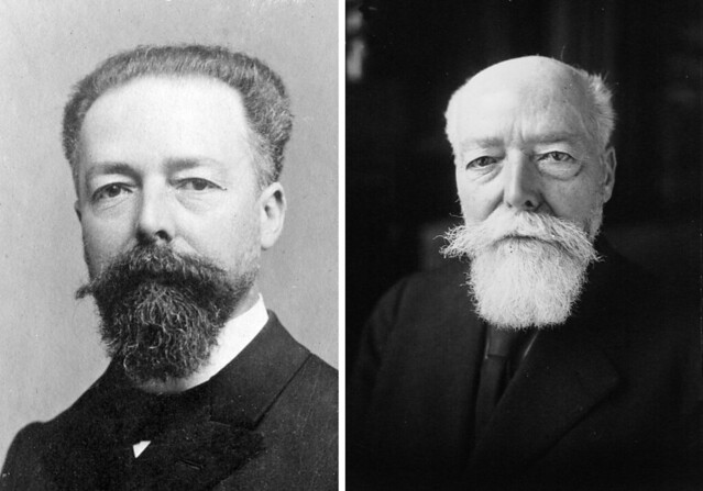 Chân dung ông Paul Doumer (1857-1932) khi làm Toàn quyền Đông Dương (1897-1902) và khi làm Tổng Thống Pháp (1931-1932)