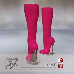 Snowpaws - Dictata Mesh Boot - Shock Pink