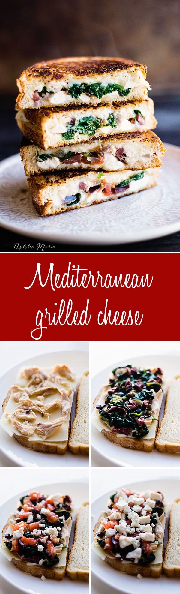 filled with all the flavors of the Mediterranean this grilled cheese is a fun take on a classic sandwhich