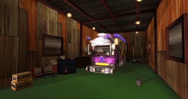 Grage in art truck