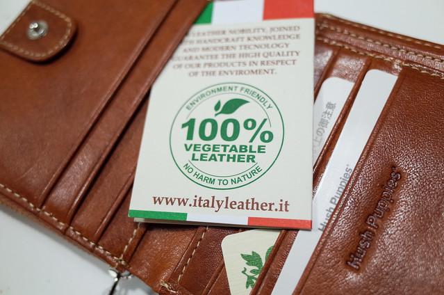 (ハッシュパピー)Hush Puppies イタリアンレザー 牛革 ラウンドファスナー二つ折り財布