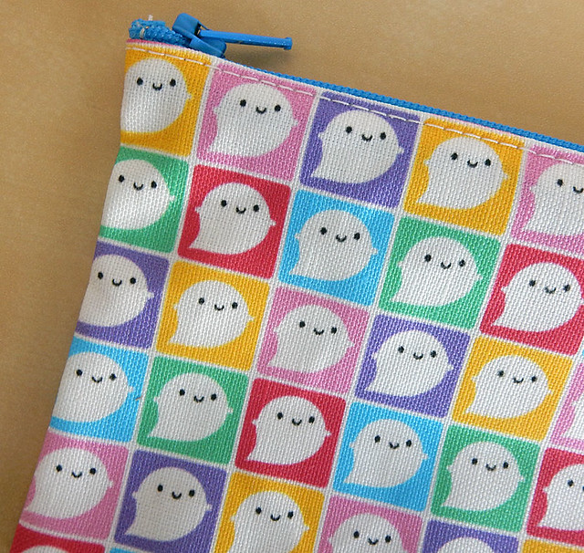 Colourful Ghosts Pencil Case