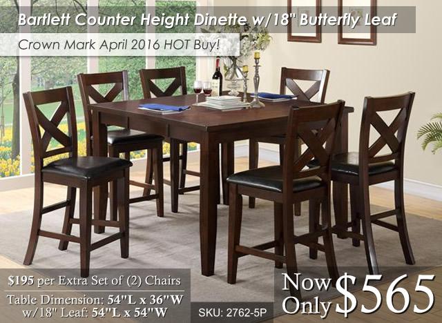 Bartlett Counter Height Dinette