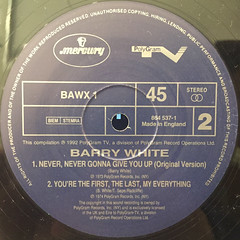 BARRY WHITE:I'M GONNA LOVE YOU JUST A LITTLE BIT MORE BABE(LABEL SIDE-B)
