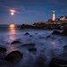 Moonrise at Portland Head Light by BenjaminMWilliamson