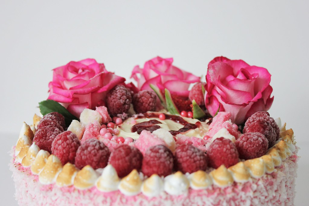 GF Raspberry Lamington Cake