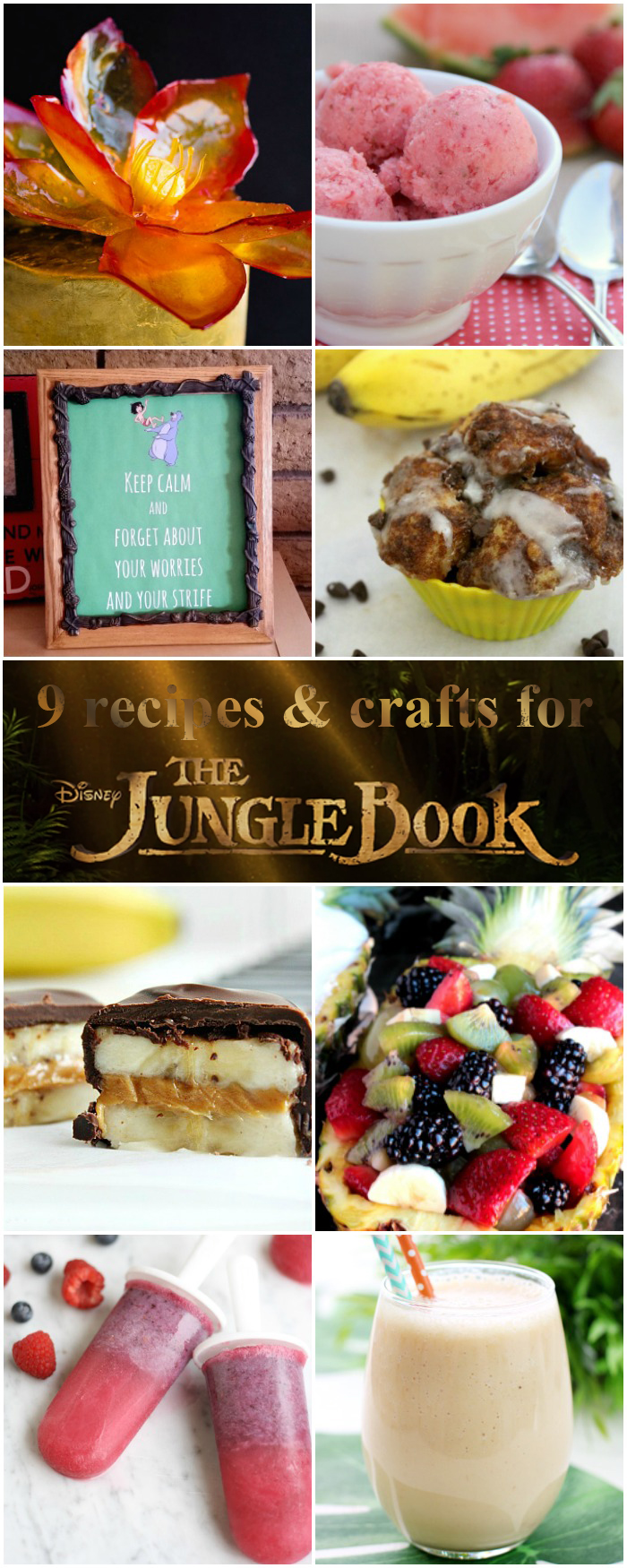 9 amazing recipes, printables and craft projects to go along with Disneys The Jungle Book