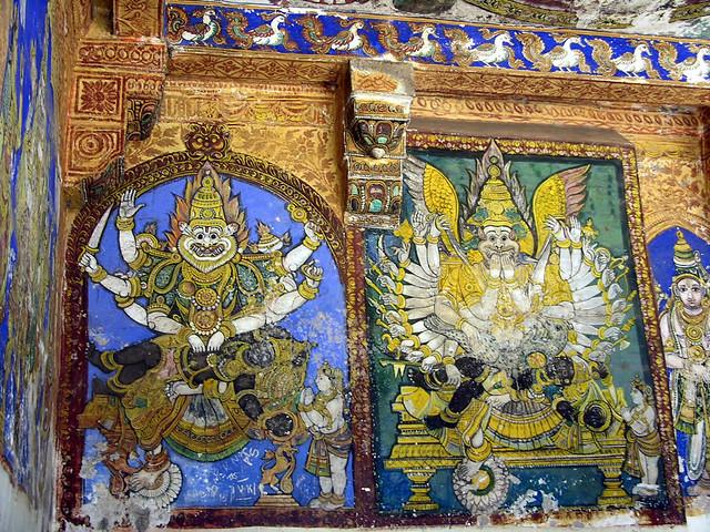 Frescos del templo hindú de Sri Ranganathaswamy