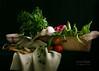 Verduras en fondo negro // Vegetables in a blak background
