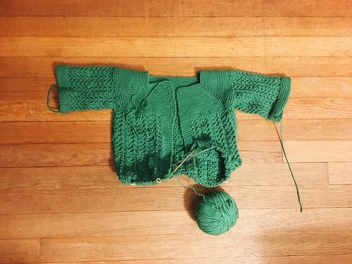 WIP: February little lady sweater