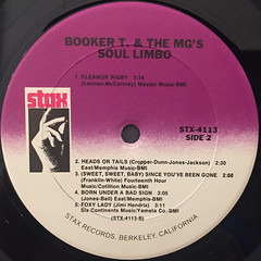 BOOKER T. & THE M.G.'S:SOUL LIMBO(LABEL SIDE-B)