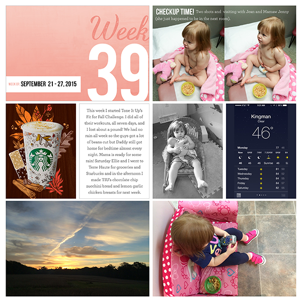 2015 Project Life - Week 39 Left