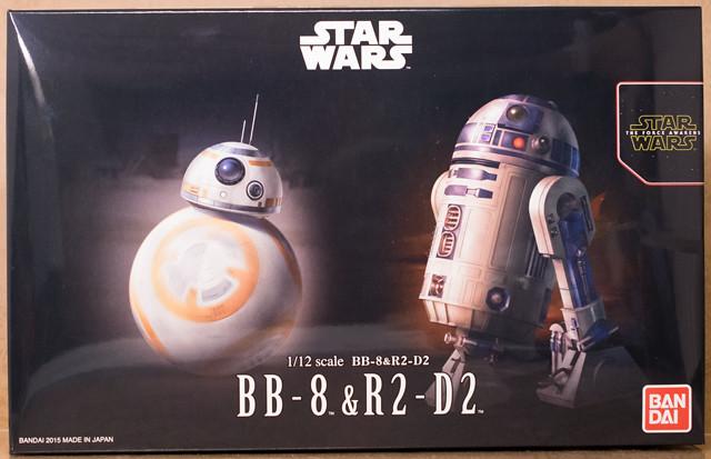 レビュー バンダイプラモデル スター・ウォーズ BB-8 & R2-D2 1/12スケール その1