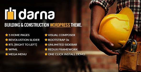 Themeforest Darna v1.0.3 - Building & Construction WordPress Theme