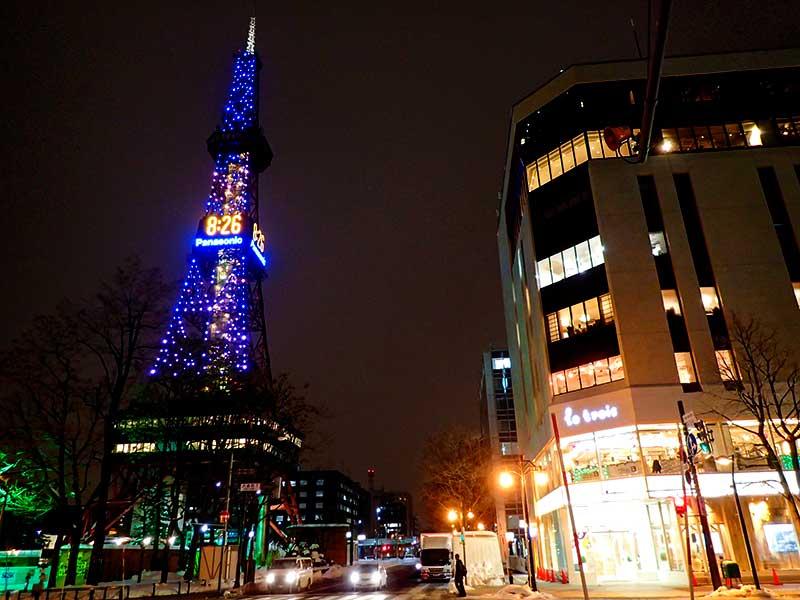 札幌-テレビ塔とル・トロワ