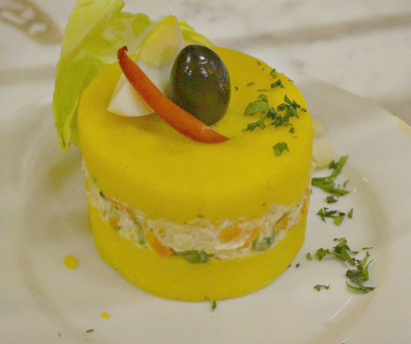 Causa - layered potato salad