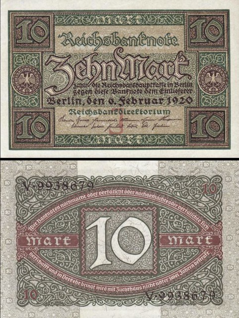 Germany p67a: 10 Mark from 1920