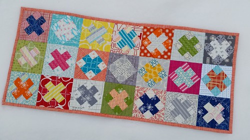 Table runner for the Minneapolis Modern Quilt Guild's Good Neighbors challenge.