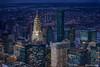 Edificio Chrysler en el crepusculo de Manhattan (NYC)