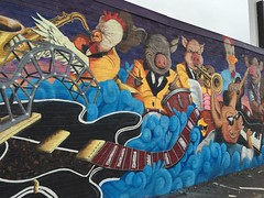 Blues mural
