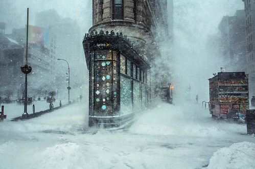 Flatiron Building NYC During Jonas Blizzard - Photo by Michele Palazzo
