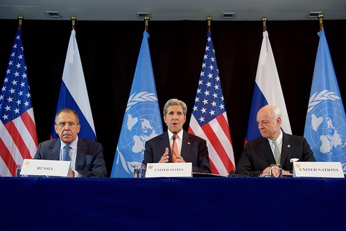 Secretary Kerry, Joined by Russian Foreign Minister Lavrov and UN Special Envoy de Mistura, Addresses the Media After ISSG Meeting in Munich