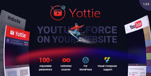 Codecanyon Yottie v1.3.0 – YouTube Channel WordPress Plugin