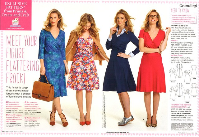 Sew, incidentally...: PRIMA Magazine - February 2016, Jersey Faux ...