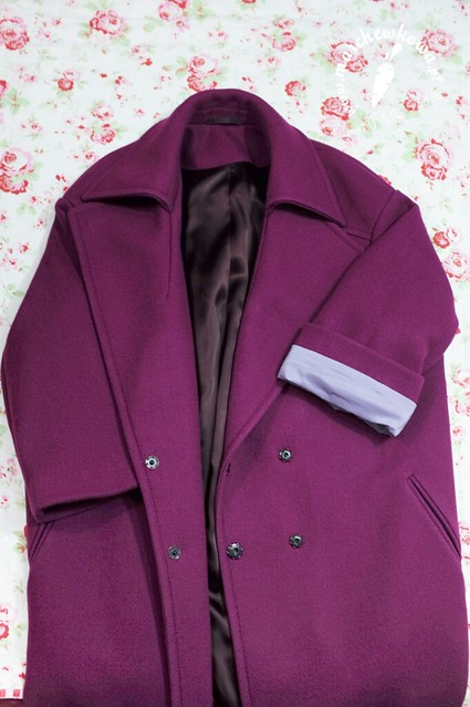 marchewkowa, blog, szycie, krawiectwo, pracownia marchewkowej, tu się szyje, wrocław, retro, vintage, style, fashion, moda, refashion, przeróbka, płaszcz, cocoon coat, paletot, Balenciaga, 1950s, lata '50.,