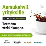 Mon, 08/02/2016 - 01:48 - Kiinnostaako verkkokauppa mahdollisuutena yrityksellesi? Tule kuuntelemaan infoa asiasta aamukahvitilaisuudessamme 25.2. Lisätietoa www.wirma.fi.