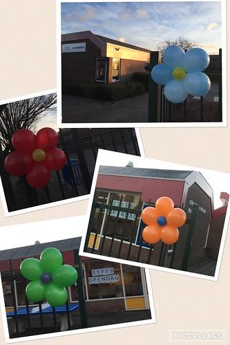 Ballonbloemen Open Dag C.B.S. De Bron Spijkenisse