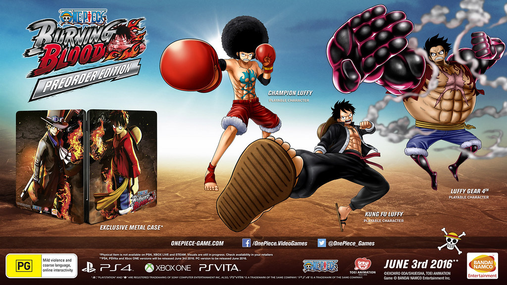 One Piece Burning Blood Marineford Collector's Edition and