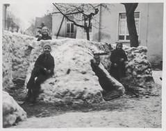 Children in a snow fort