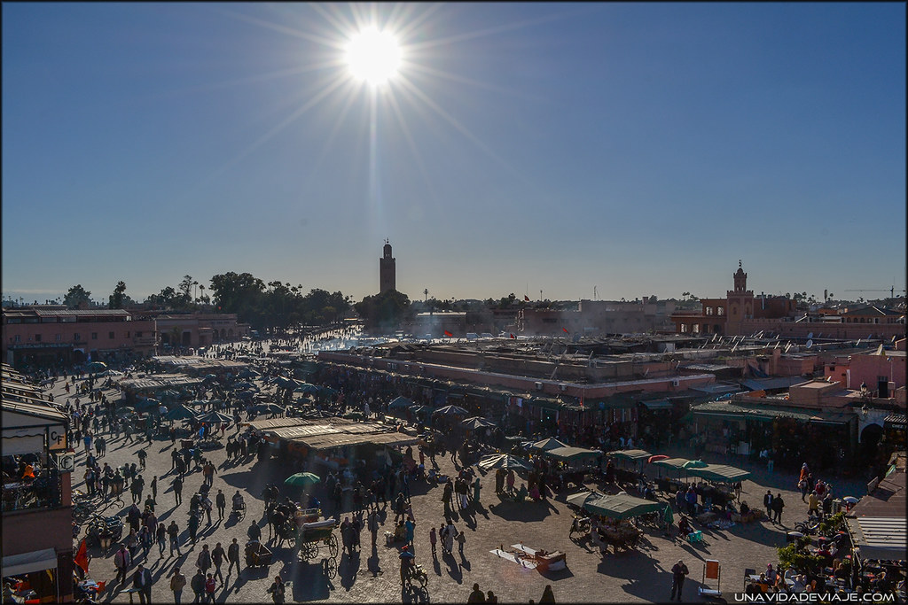 Marruecos sur Marrakech plaza