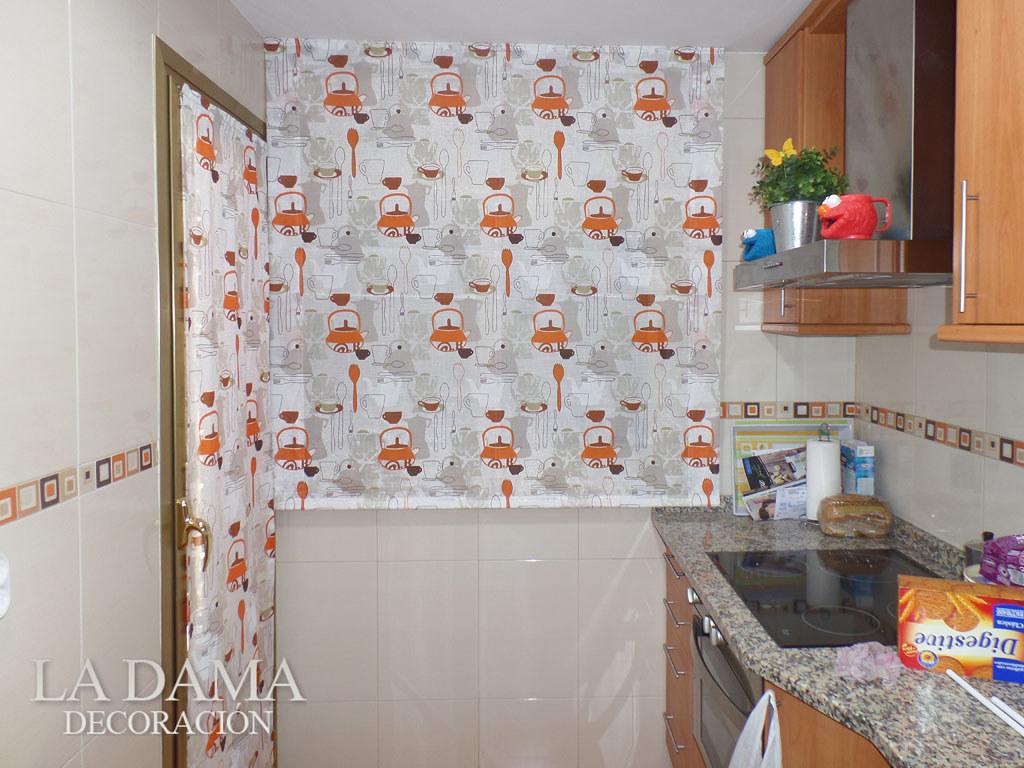 Fotograf as de cortinas de cocina la dama decoraci n - Cortinas de cocinas ...