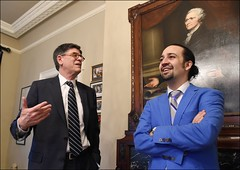 U.S. Department of the Treasury: Secretary Jacob J. Lew meets with Hamilton creator and star Lin-Manuel Miranda (Tuesday Mar 15, 2016, 12:51 PM)