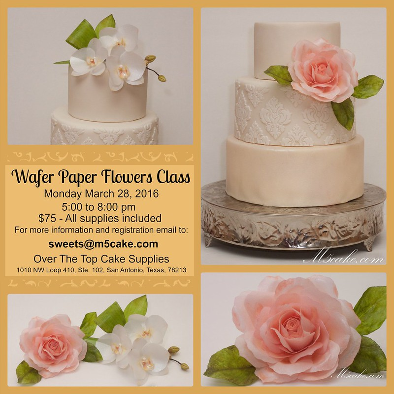 Wafer paper flowers class announcementmar 28