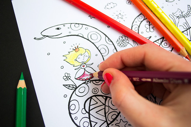 Happy Snakes Coloring Page