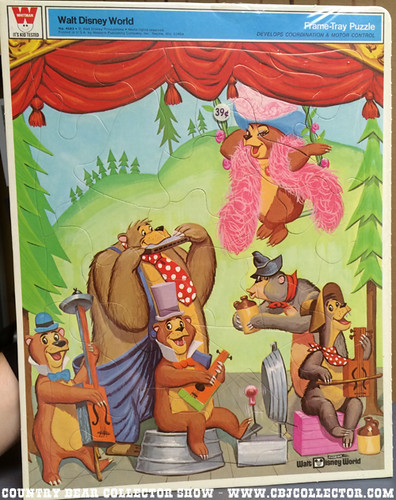 Vintage 1970s Disney Country Bear Jamboree Puzzle - Country Bear Collector Show #001