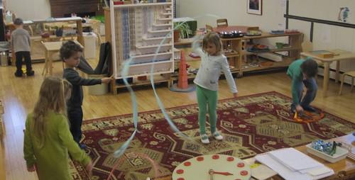ribbon dancing