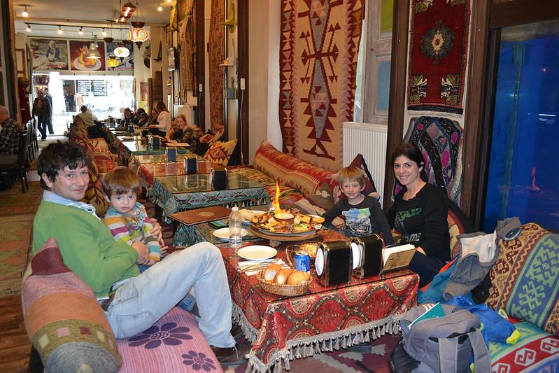 En el interior del restaurante Capadocia