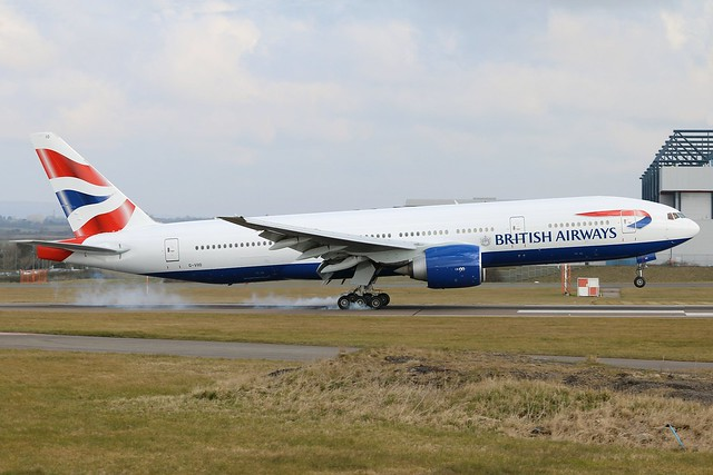 British Airways - Boeing 777-236ER G-VIIO @ Cardiff Rhoose
