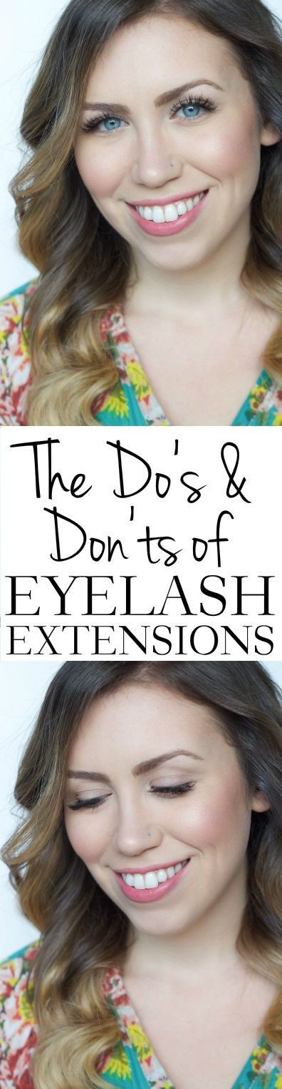 The Do's & Don'ts of Eyelash Extensions | Everything To Know Before Getting Eyelash Extensions | Beauty FAQs on Living After Midnite by Jackie Giardina
